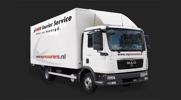 Vrachtwagen WGM Koeriers